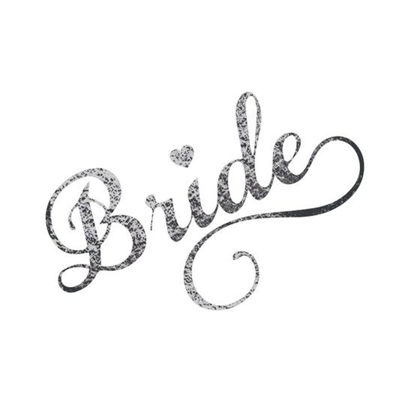 Metallic Bride Wedding Temporary Tattoo image number null