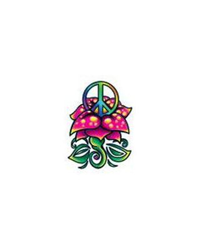 Peace Flower Temporary Tattoo image number null