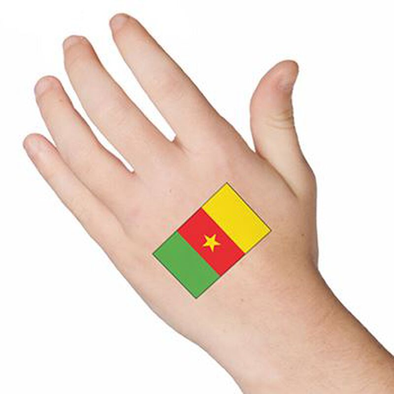 Cameroon Flag Temporary Tattoo image number null