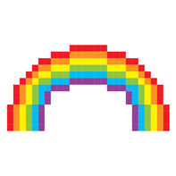 Pixel Rainbow Temporary Tattoo
