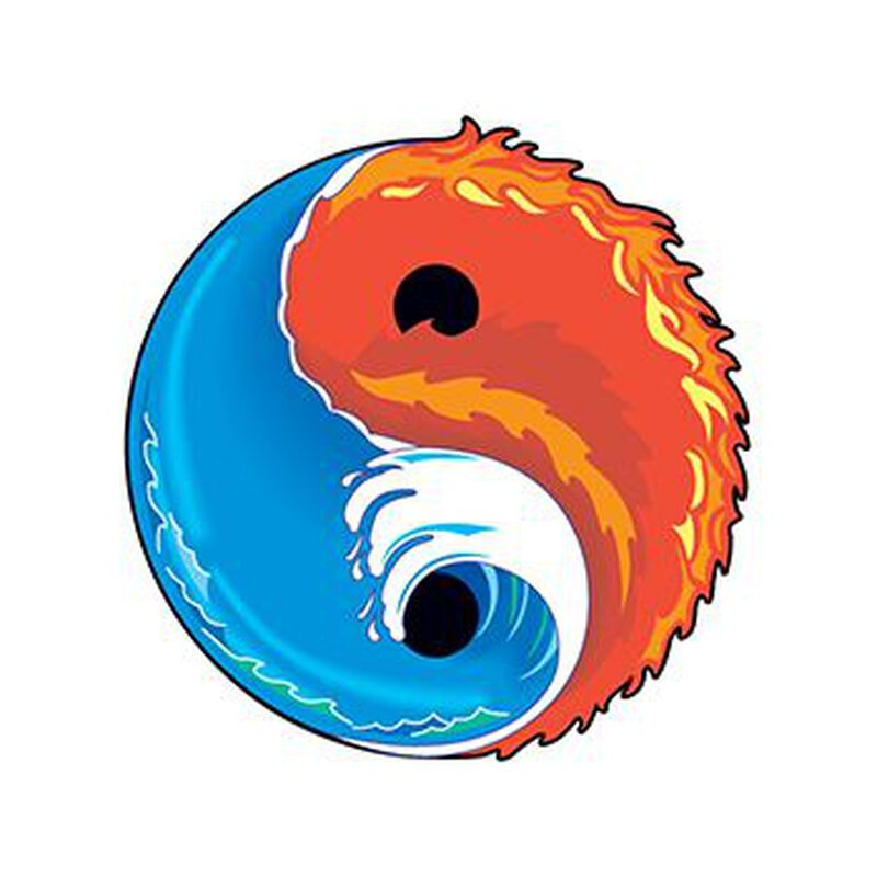 Elements Yin Yang Temporary Tattoo image number null