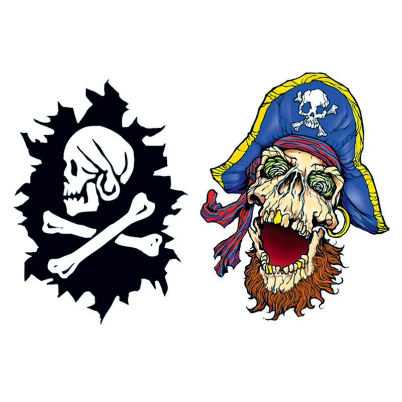 Glow in the Dark Pirate Temporary Tattoos image number null