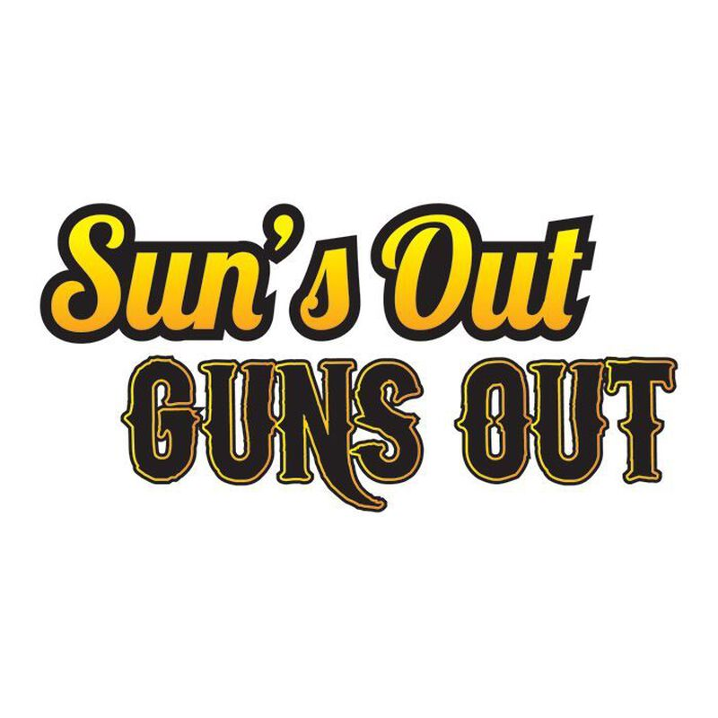 Bro Suns Out Guns Out Temporary Tattoo image number null