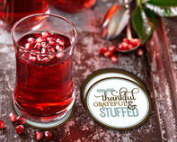 Thankful Grateful & Stuffed Coaster Gift Box