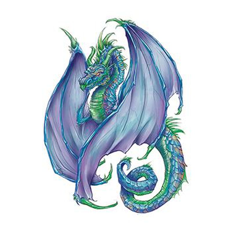 Regal Dragon Temporary Tattoo image number null
