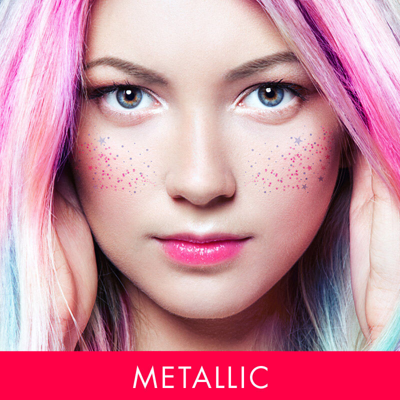 Metallic Magical Freckle Face Costume Tattoo image number null