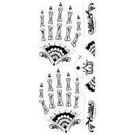 Day of the Dead Glow Bones Hand Temporary Tattoo