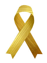 Metallic Gold Ribbon Temporary Tattoo