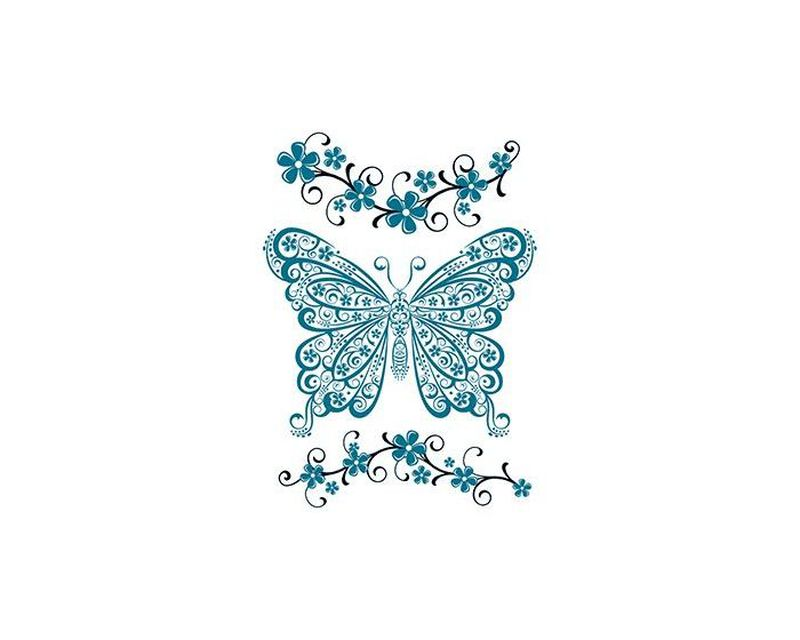 Detailed Butterfly Temporary Tattoo image number null