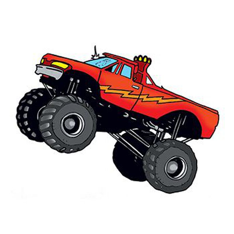 Monster Truck Temporary Tattoo image number null