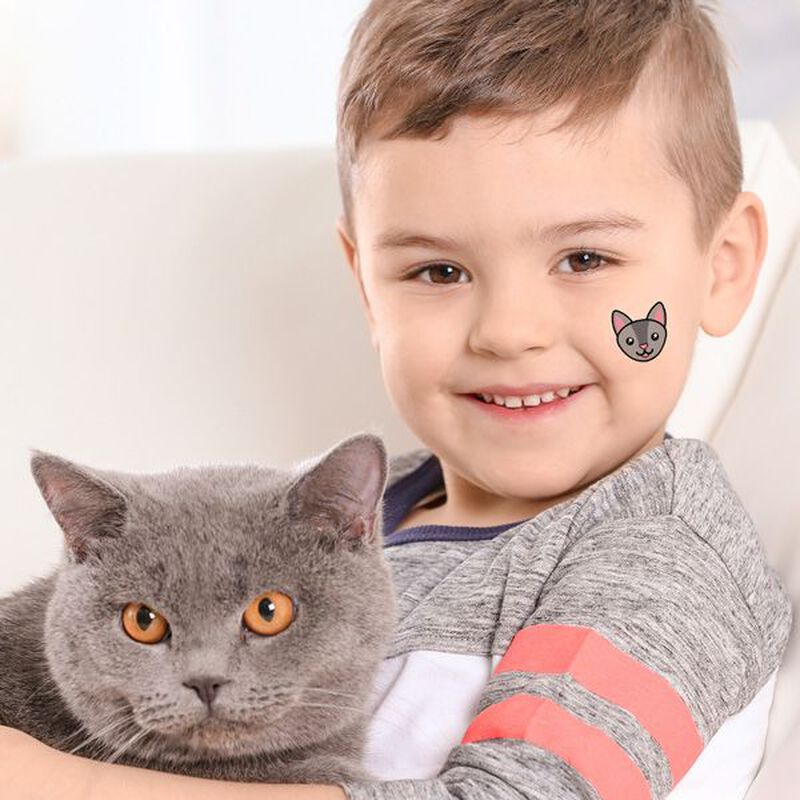 Chartreux Cat Face Temporary Tattoo image number null