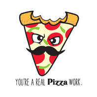 You're a Real Pizza Work Temporary Tattoo