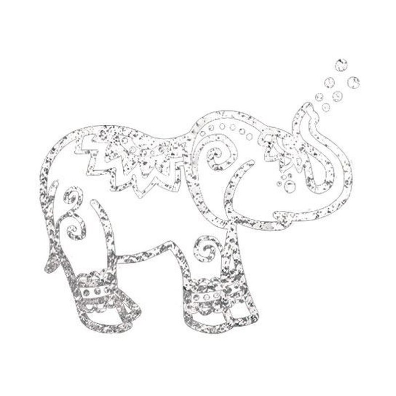 Silver Elephant Temporary Tattoo image number null