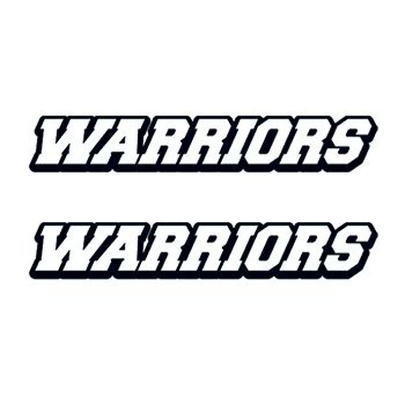 Warriors Text Temporary Tattoo image number null