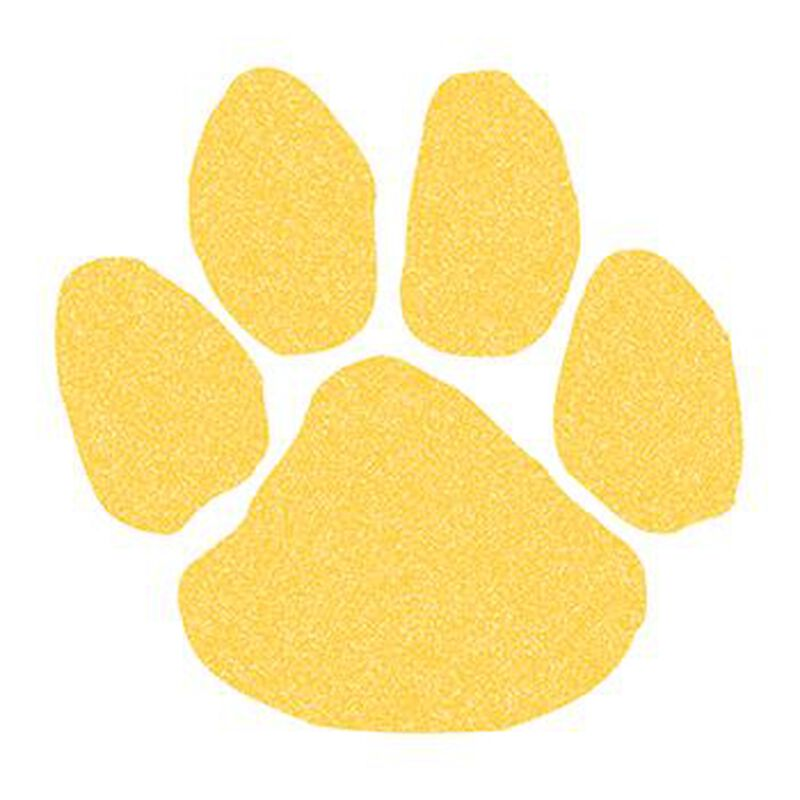 Glitter Yellow Paw Print Temporary Tattoo image number null