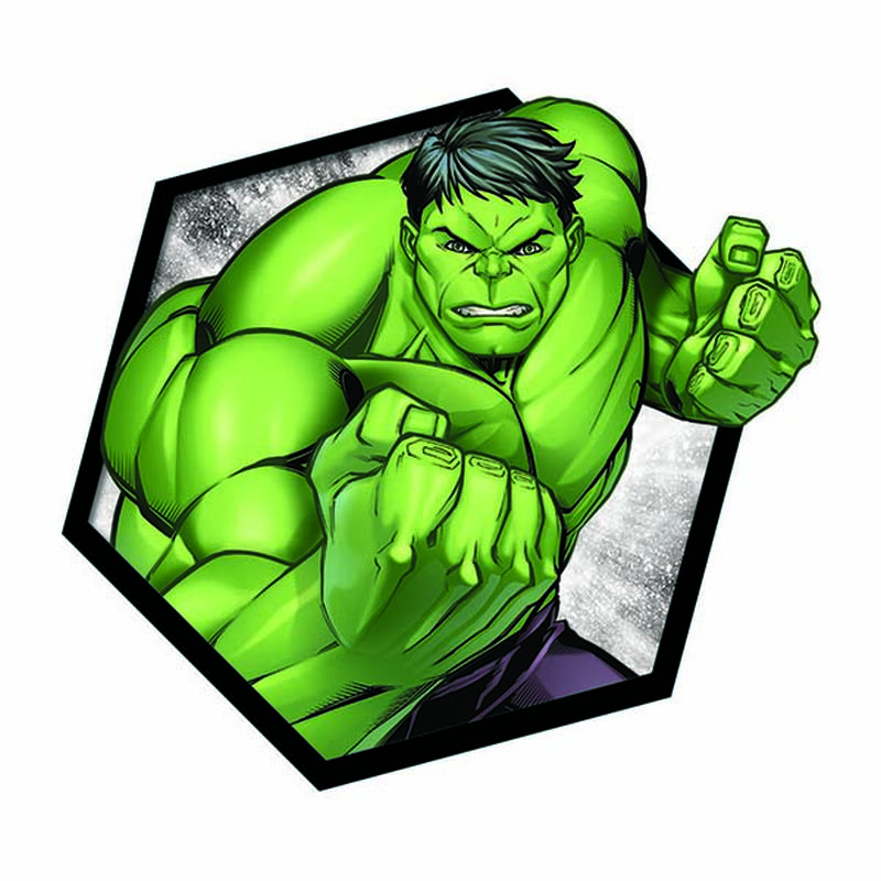 Avengers Hulk Badge Temporary Tattoo image number null