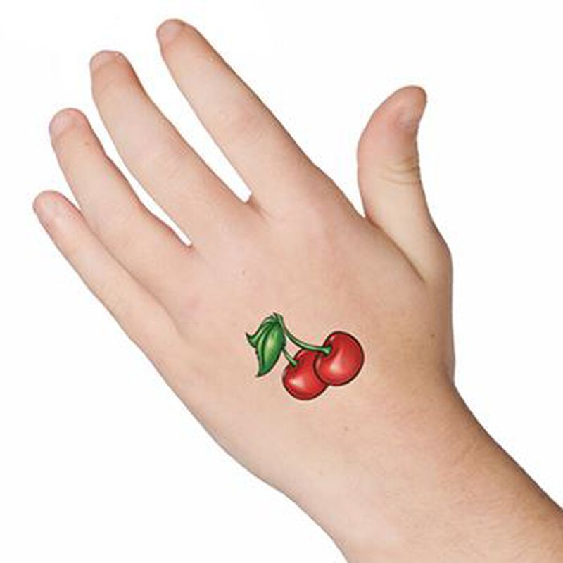 Pair of Cherries Temporary Tattoo image number null