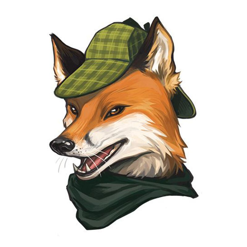 Sleuthing Fox Temporary Tattoo image number null
