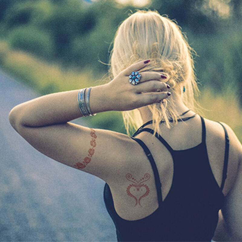 Henna: All Heart Temporary Tattoo Set image number null