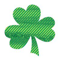 Metallic Striped Shamrock Temporary Tattoo