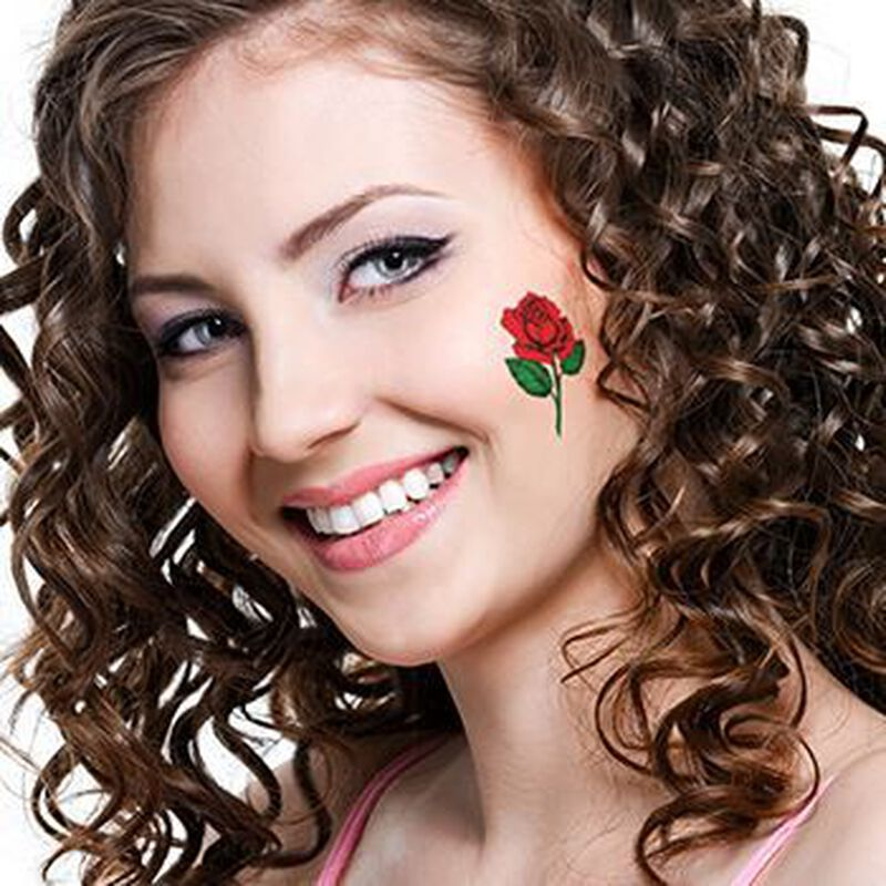 Blooming Rose Temporary Tattoo image number null