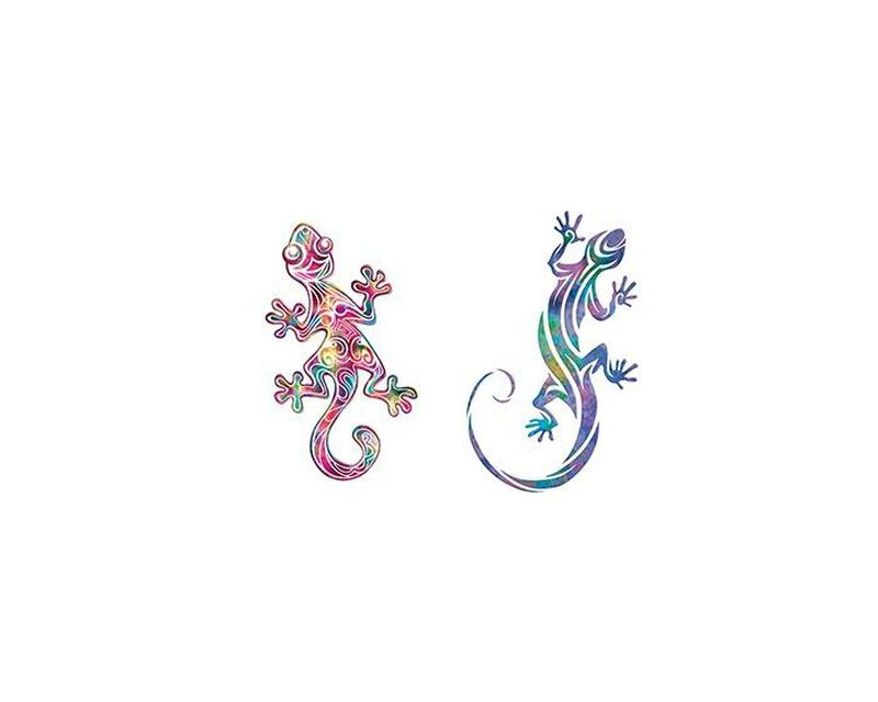 Pair of Geckos Temporary Tattoos image number null