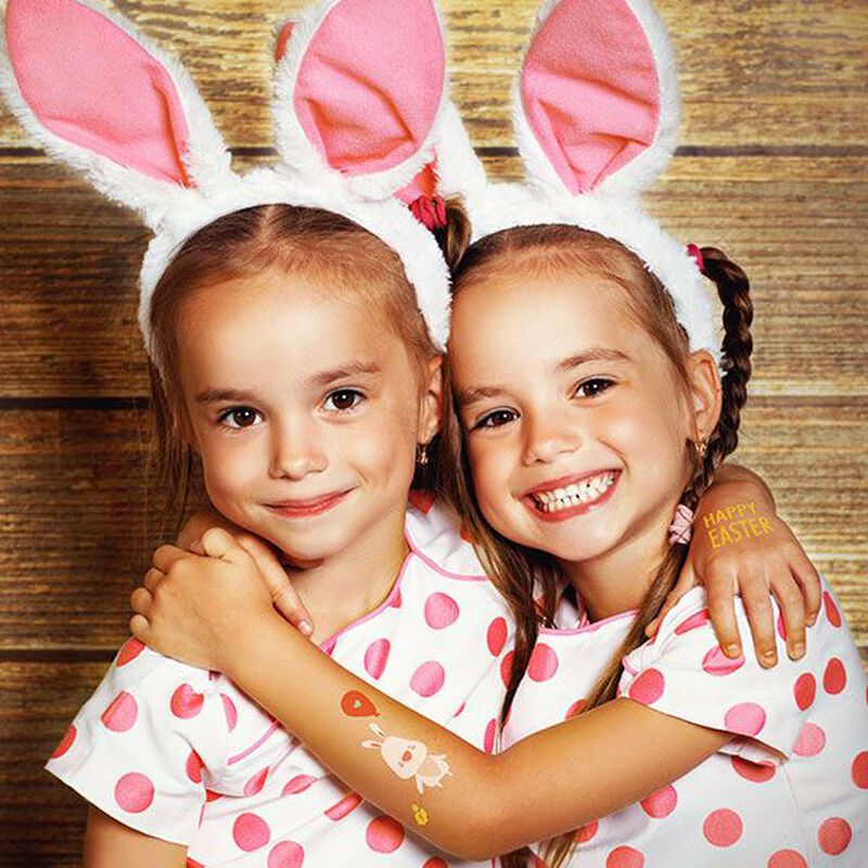 Happy Easter Bunny Temporary Tattoo image number null