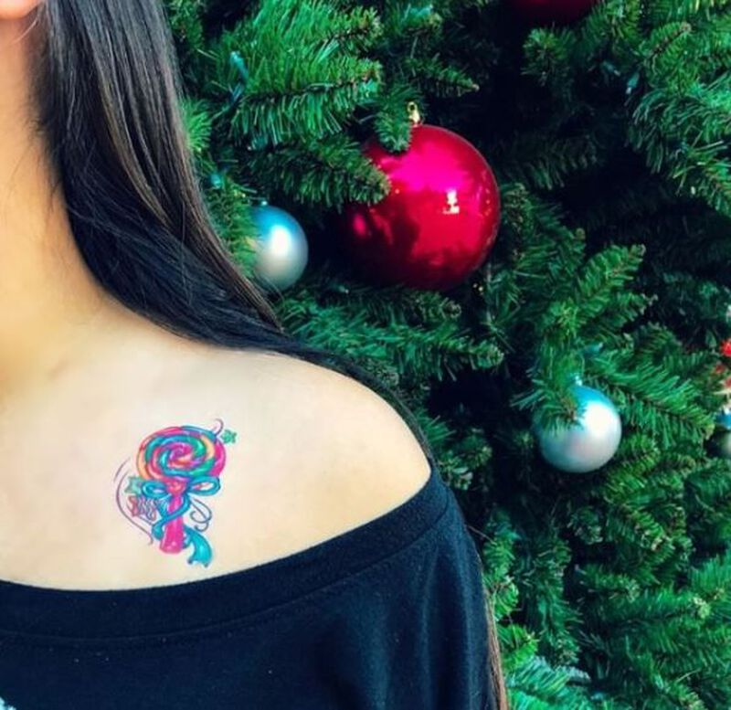 Sweet Shop Lollipop Temporary Tattoo image number null