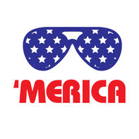 'Merica Sunglasses Temporary Tattoo