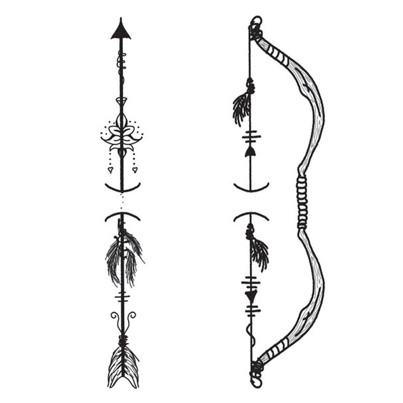Shareable Bow & Arrow Temporary Tattoo image number null