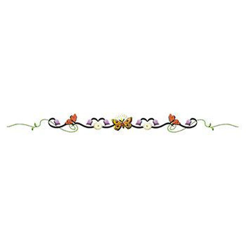 Butterfly Floral Tulip Band Temporary Tattoo image number null