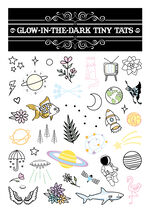 Glow-in-the-Dark Tiny Tats Temporary Tattoos