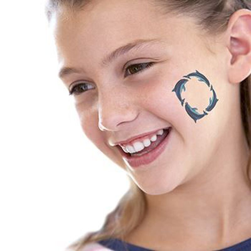 Dolphin Ring Temporary Tattoo image number null