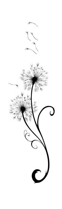 Dandelions Temporary Tattoo image number null