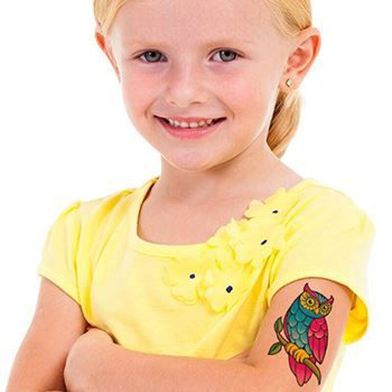 Classic Girls: Owl Temporary Tattoo image number null