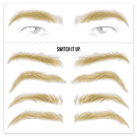 Men's Blonde Eyebrow Temporary Tattoos