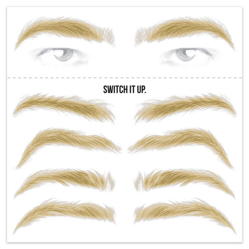 Men's Blonde Eyebrow Temporary Tattoos image number null