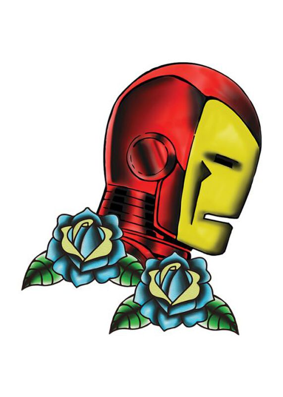Marvel Ink Iron Man Profile Temporary Tattoo image number null