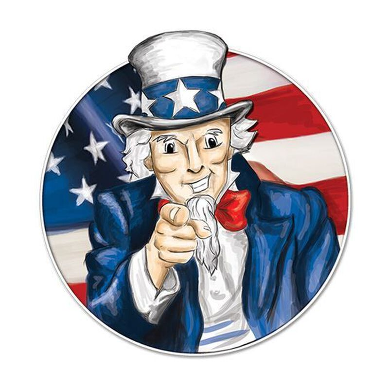 Uncle Sam Patriotic Temporary Tattoo image number null