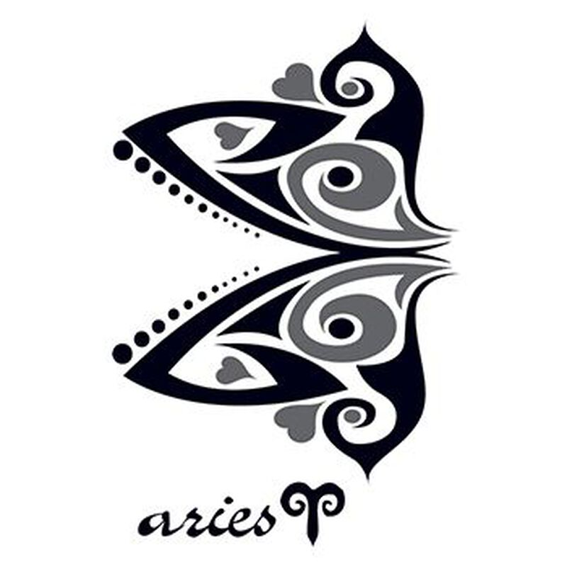 Zodiac: Aries Design Temporary Tattoo image number null