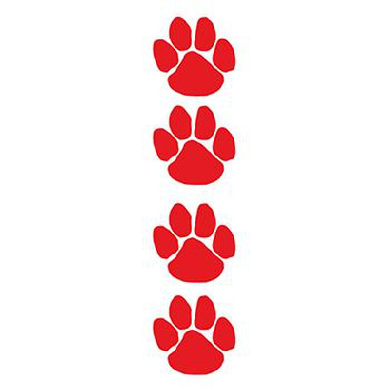 Red Paw Prints Temporary Tattoo Set image number null