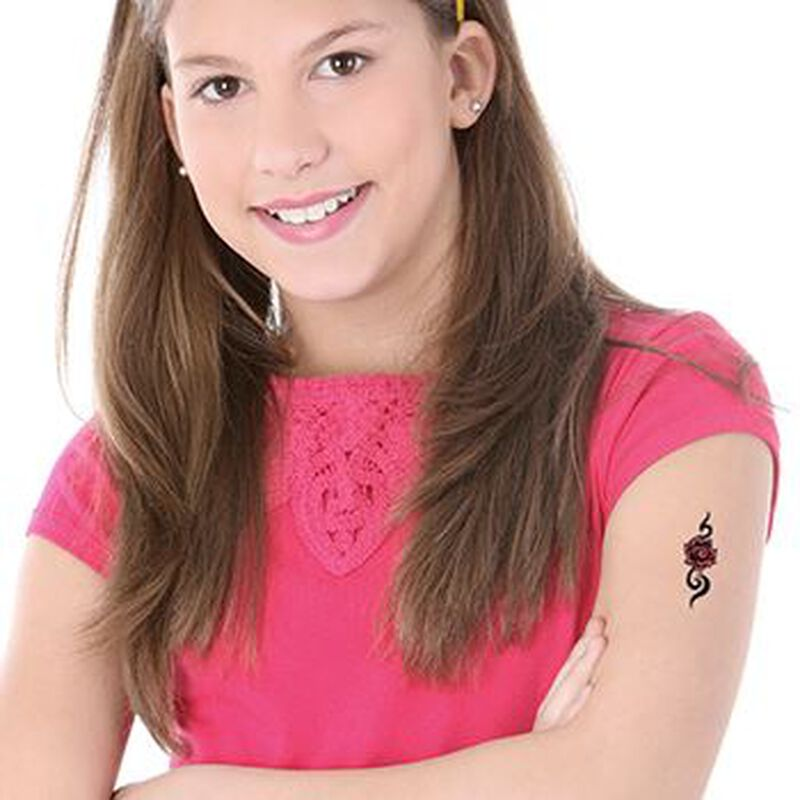 Tribal Modern Rose Temporary Tattoo image number null