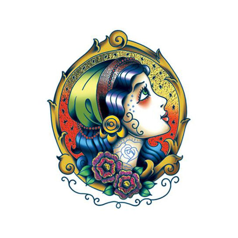 Radiant Beauty Color Metallic Temporary Tattoo image number null