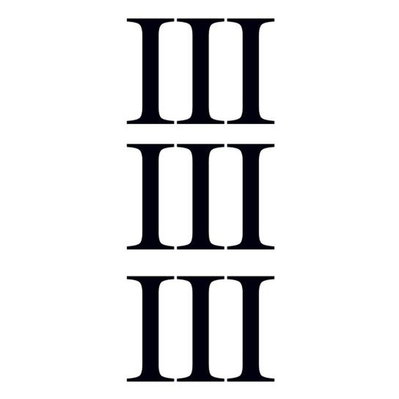 Roman Numeral Three Temporary Tattoo image number null