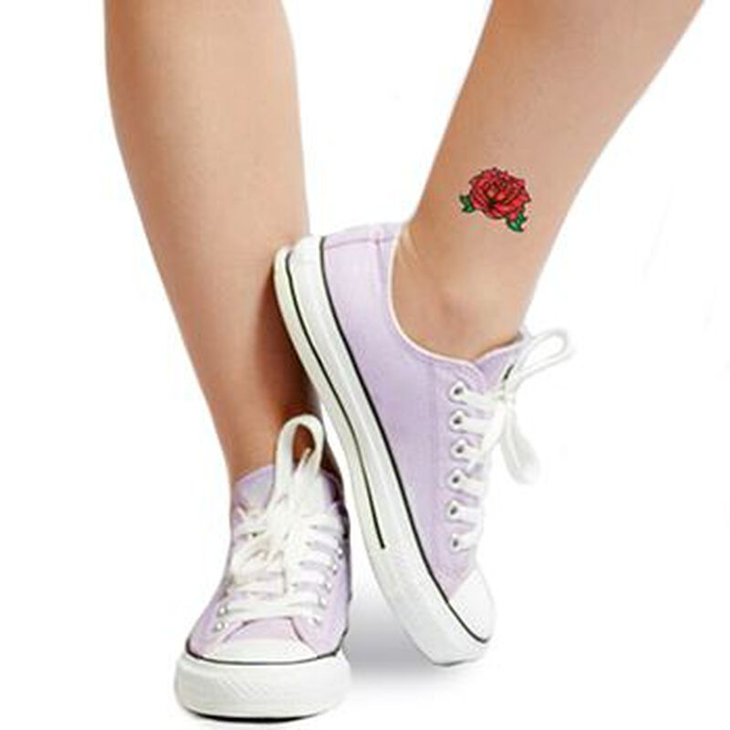 Red Rose Temporary Tattoo image number null