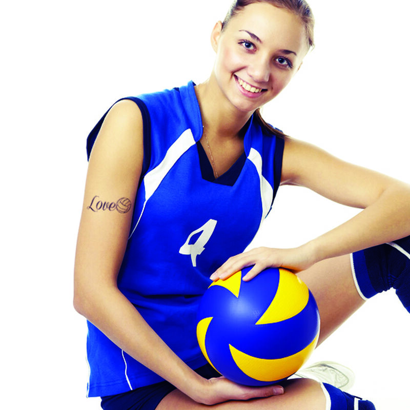 Love Volleyball Temporary Tattoo image number null