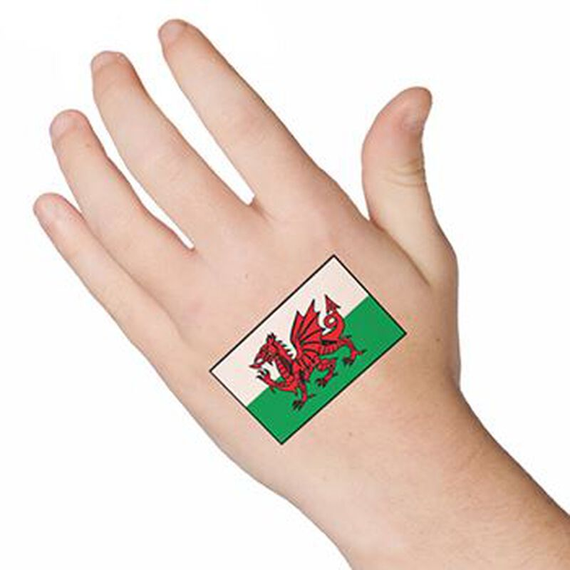 Wales Flag Temporary Tattoo image number null