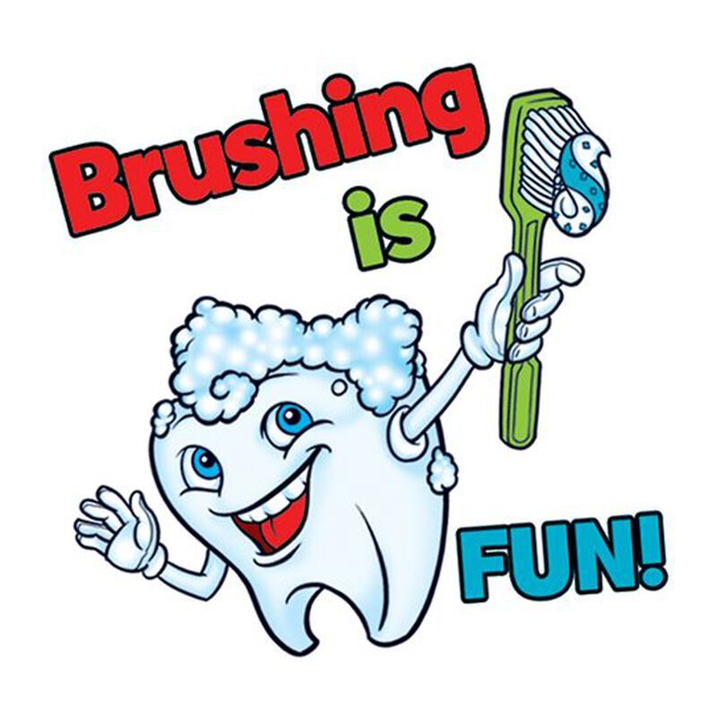 Brushing Is Fun Temporary Tattoo image number null
