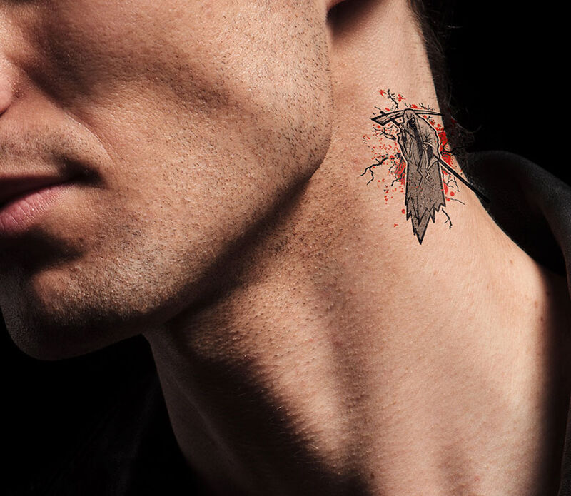Grim Reaper Temporary Tattoo image number null