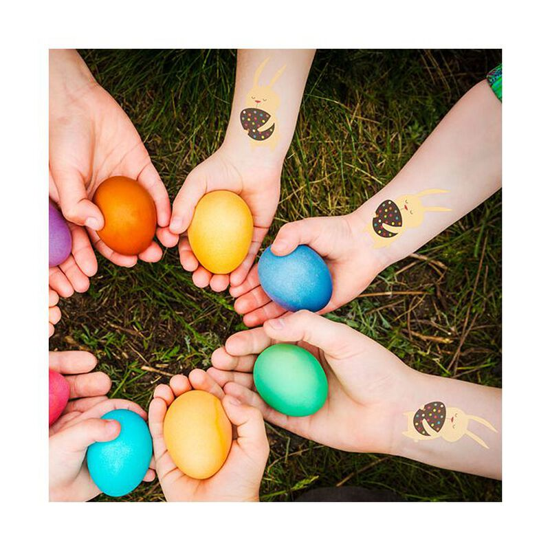 Bunny with Easter Egg Temporary Tattoo image number null